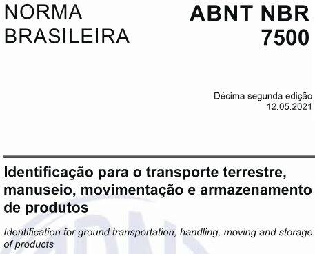 abnt nbr 7500 2021